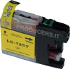 Cartuccia compatibile per Brother LC125XLY (16ml Giallo con chip)