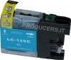 Cartuccia compatibile per Brother LC125XLC (16ml Ciano con chip)